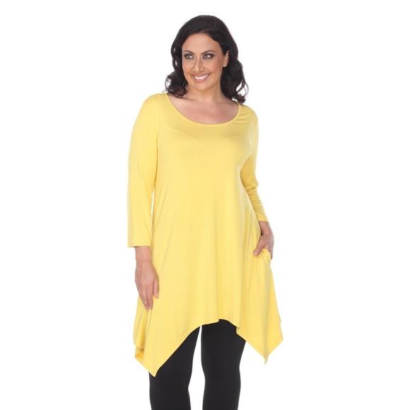 8ee4a609bbf Plus Size Makayla Tunic Rayon Mustard PS1302-09